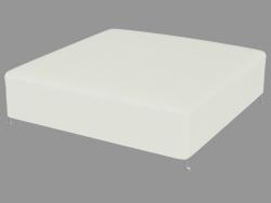 Pufe em estofado de couro (130x130)