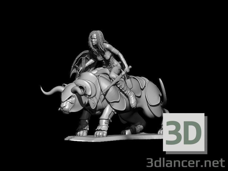 3d big cat model buy - render