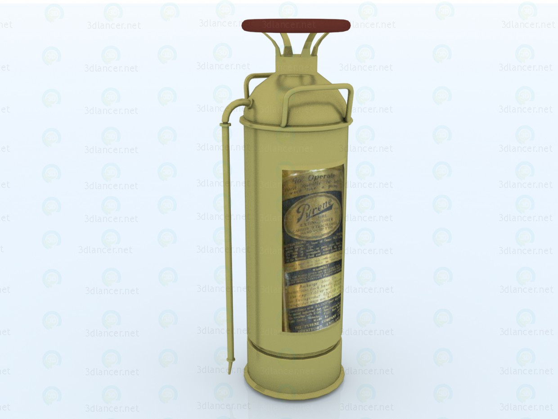 3d modeling Vintage fire extinguisher model free download