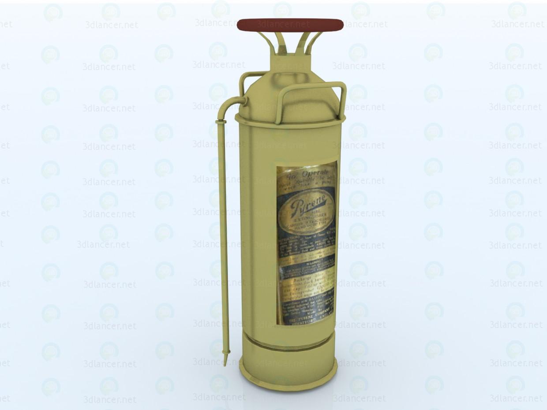 3d model Vintage fire extinguisher - preview