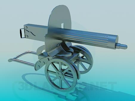 3d модель Пулемет Максим – превью