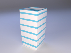 ceramic vase with stripes