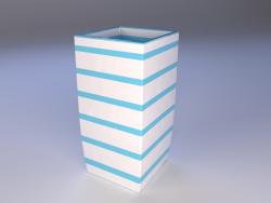 керамическая ваза с полосками