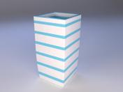 ceramic vase with stripes