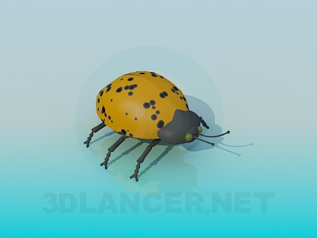 3d model Escarabajo amarillo - vista previa