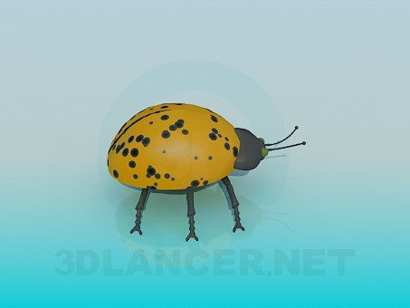 3d model Yellow beetle - preview