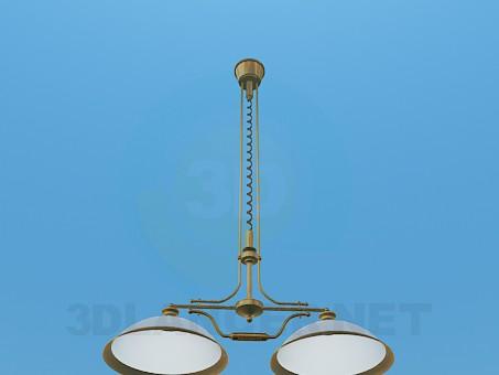 3d модель Высокий светильник – превью