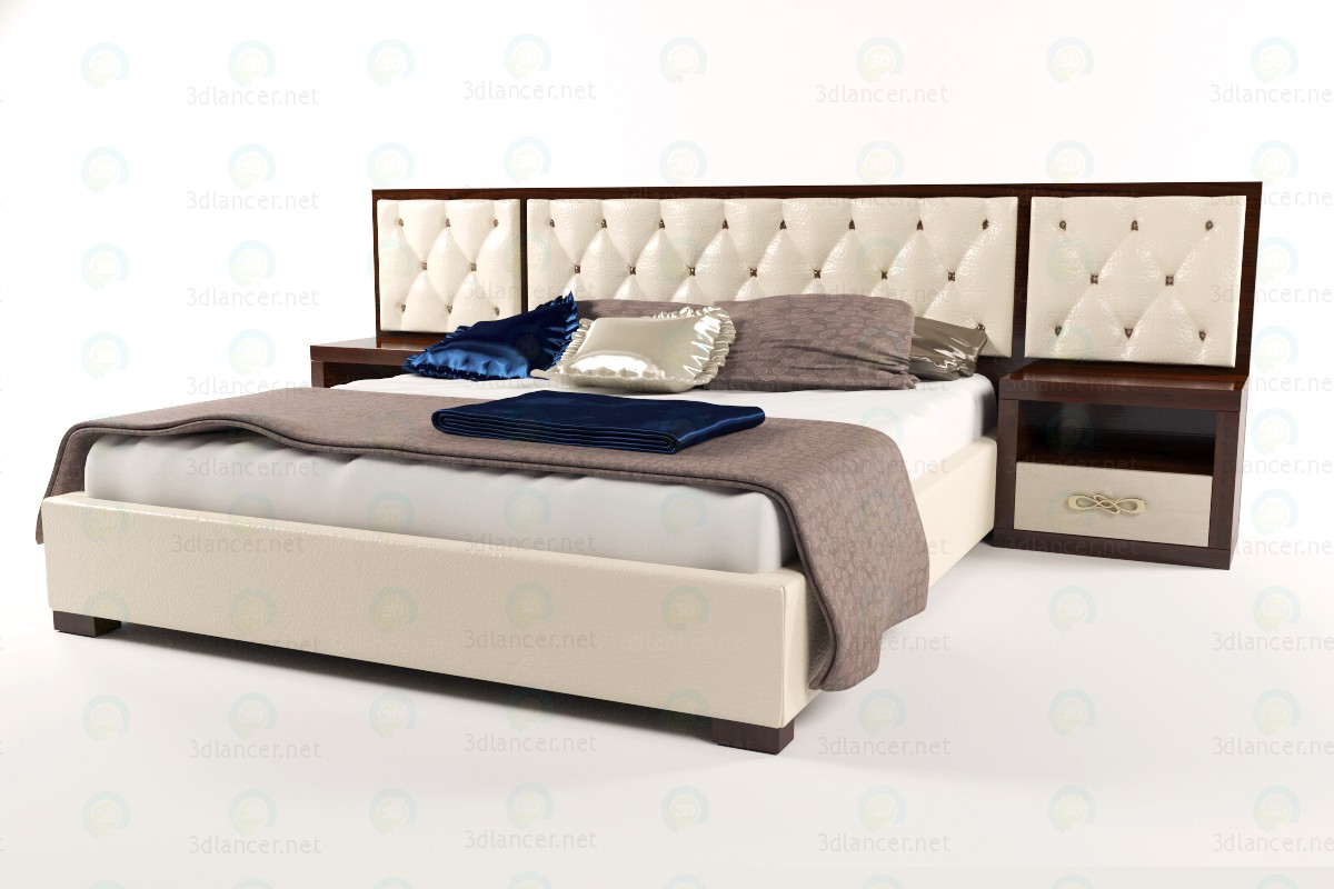 Bed Glamour paid 3d model by Alex3ddd preview