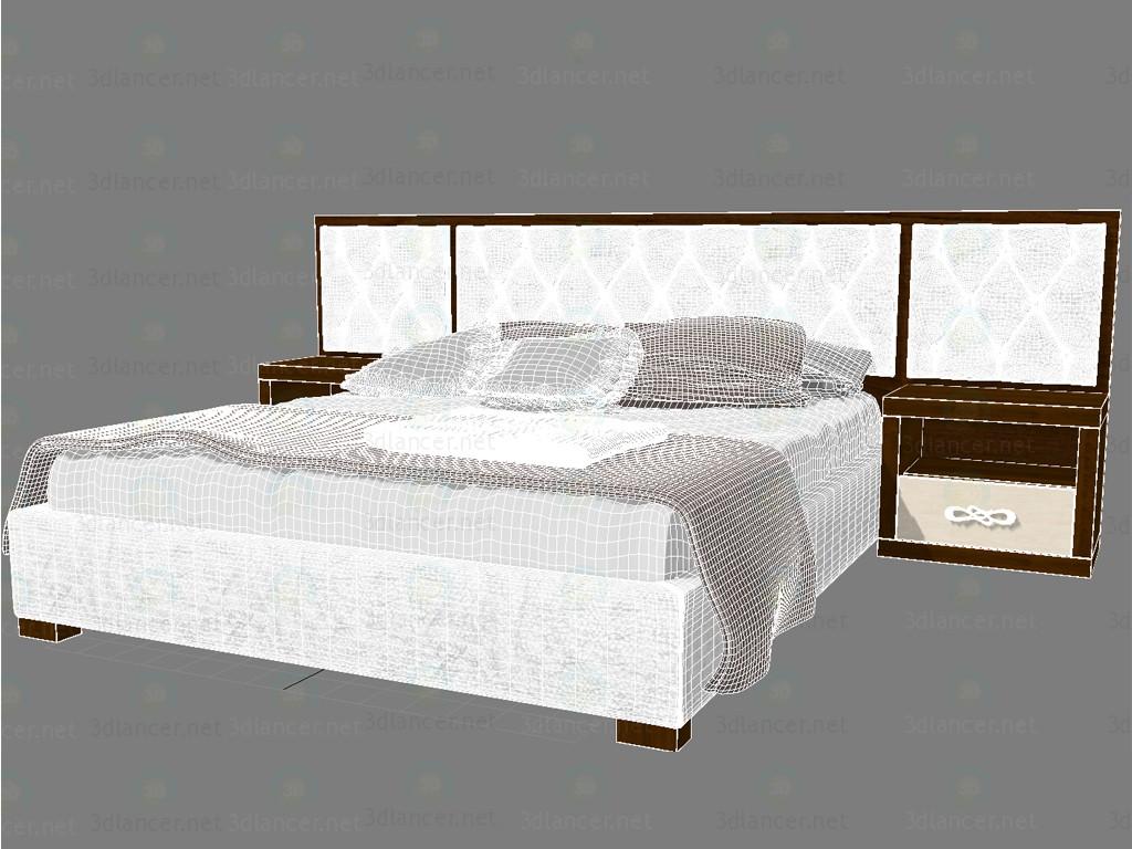 3d Bed Glamour model buy - render