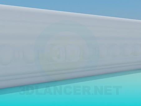 3d модель Багет лепка – превью
