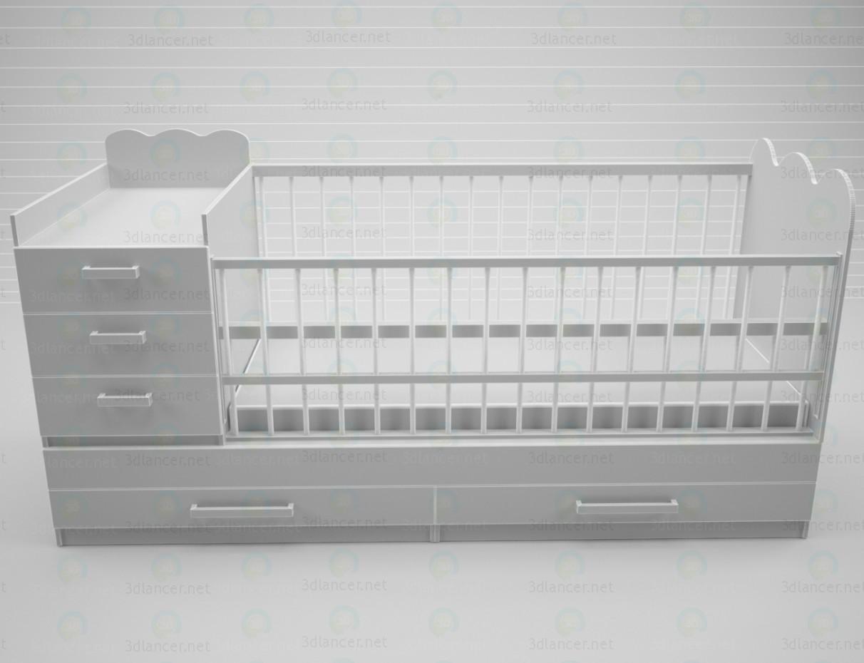 modelo 3D Colchas con cajones para el almacenaje y mesa para cambiar pañales - escuchar