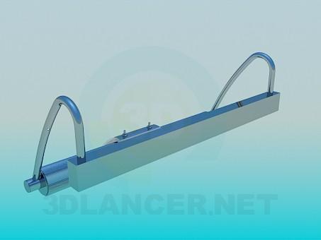 3d моделирование Настенный светильник модель скачать бесплатно