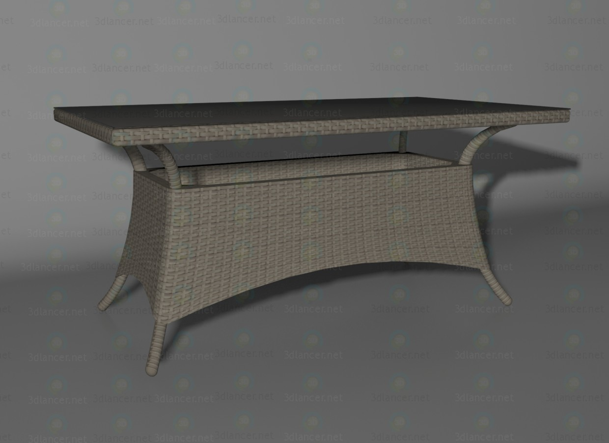 3d model Athens cappuccino table - preview