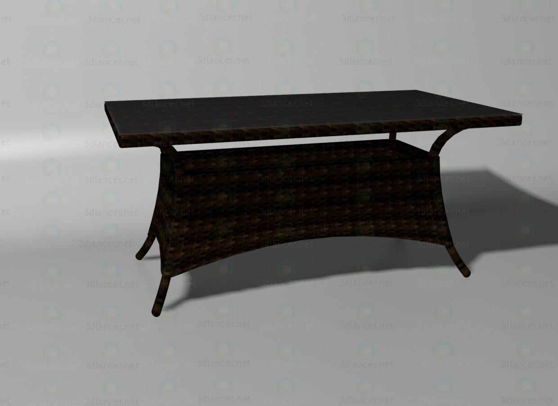 3d модель Athens стіл капучино – превью