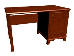 Schreibtisch mit Platz für Kühlschrank