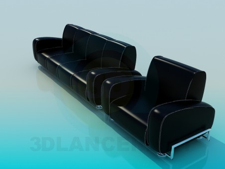 3d model Sofas and chairs - preview