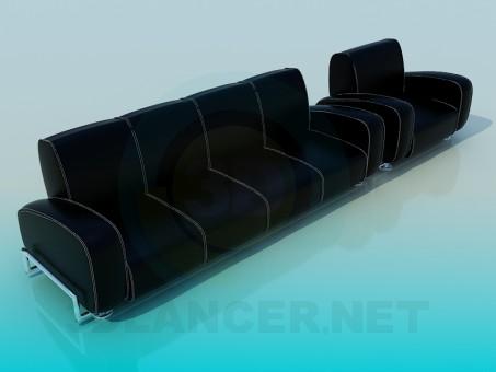 3d модель Диван с креслом – превью
