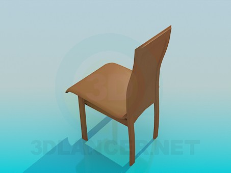 3d model Chair with leather seat - preview