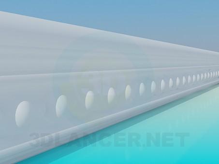 3d model Baguette stucco - preview