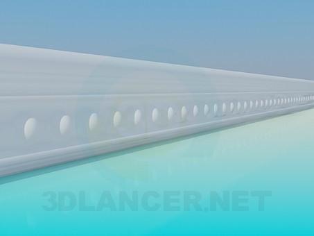 3d модель Багет из лепнины – превью