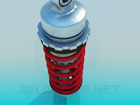 3d model spring - preview