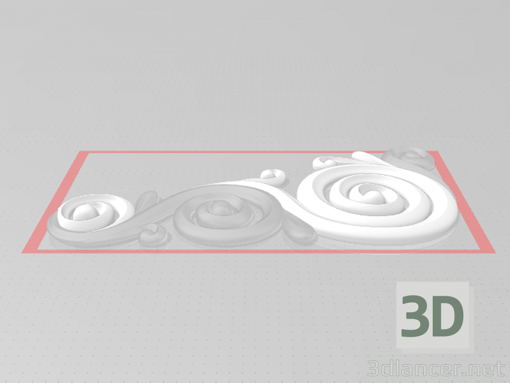 3d model Decor volumetric curls 3D - preview