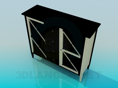 3d modeling Commode model free download
