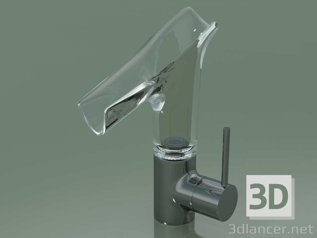 3d model Single lever basin mixer 140 with glass spout (12116330) - preview