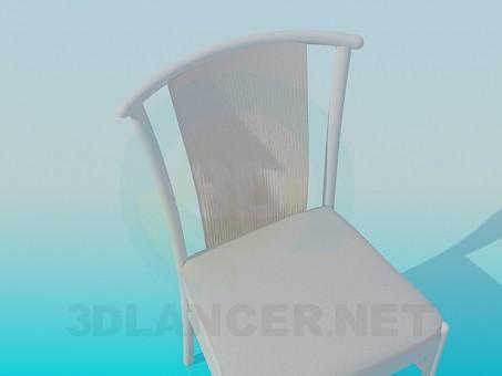 modelo 3D Taburete con respaldo - escuchar