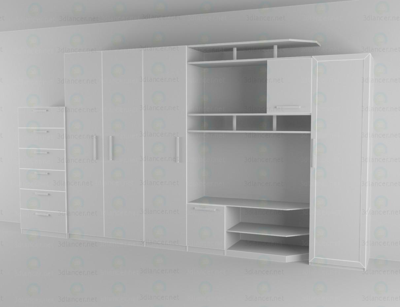 modelo 3D La unidad de pared para el salón - escuchar