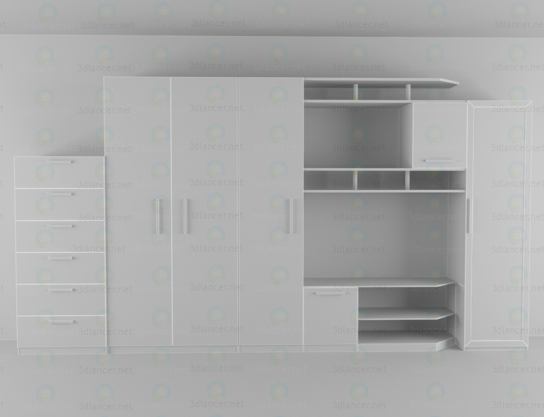 3d модель Стенка в гостиную – превью