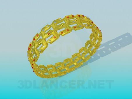 3d modeling Gold plated bracelet model free download