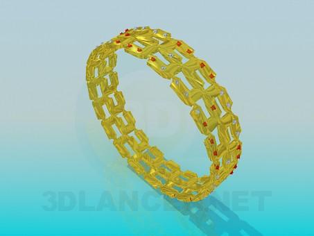 modelo 3D Pulsera plateado oro - escuchar