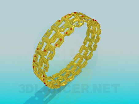 3d модель Позолоченный браслет – превью