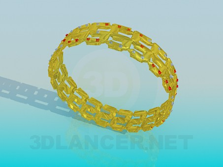 3d model Gold plated bracelet - preview
