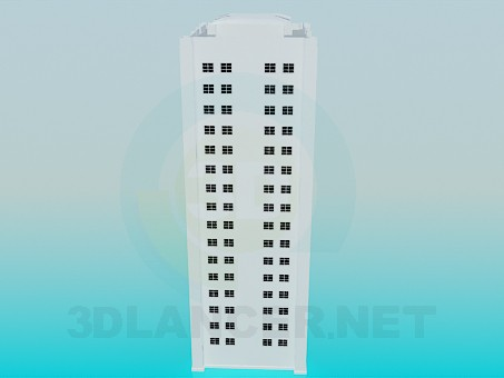 3d model Residential building - preview