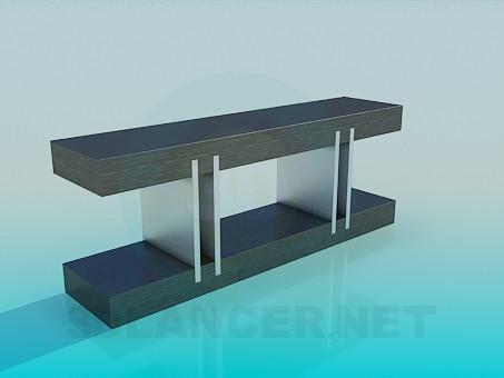 modelo 3D Soporte de mesa - escuchar