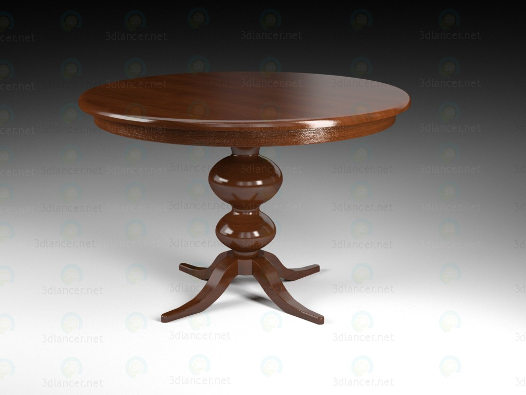3d model round_table - preview