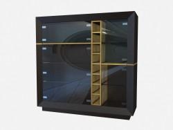 Showcase of wood Art Deco Trovatore Z02