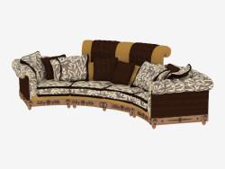 Canapé classique à quatre places