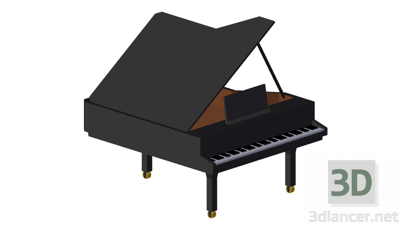 3 डी मॉडल ग्रांड पियानो - पूर्वावलोकन