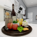 3d Tray, Food, Drinks model buy - render