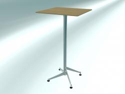 Table de bar pliante SELTZ high (60X60 H110 aménagée)