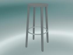 Sgabello BLOCCO sgabello (8500-00 (76 cm), grigio cenere, alluminio sabbiato)