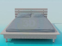 Bed with a fillet around the perimeter of the bed