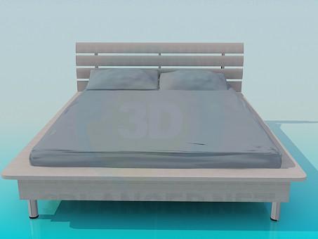descarga gratuita de 3D modelado modelo Cama con un filete alrededor del perímetro de la cama