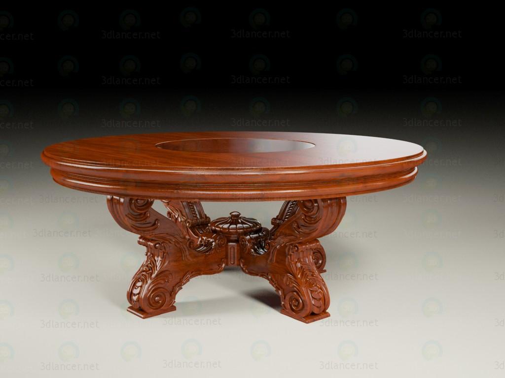 3d модель Круглый стол с резьбой – превью