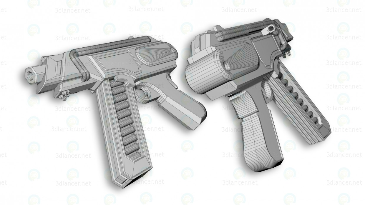 "3d Submachine gun ""Wasp"" model buy - render"
