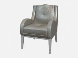 Кожаное кресло на деревянных ножках Tyner