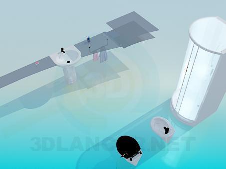 3d моделирование Набор в ванную модель скачать бесплатно